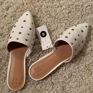 A New Day White Studded Mules